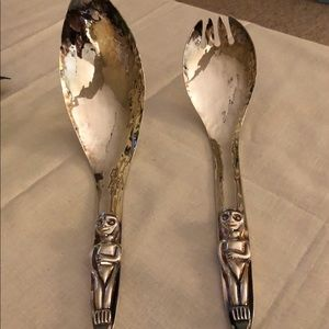 Vintage Pacific NW Serving Set - Silver Plate